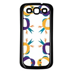 Pattern Circular Birds Samsung Galaxy S3 Back Case (black) by BangZart