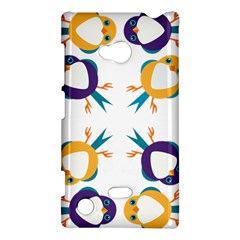 Pattern Circular Birds Nokia Lumia 720 by BangZart