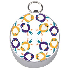 Pattern Circular Birds Silver Compasses by BangZart
