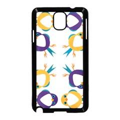 Pattern Circular Birds Samsung Galaxy Note 3 Neo Hardshell Case (black) by BangZart