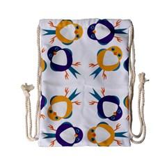 Pattern Circular Birds Drawstring Bag (small) by BangZart
