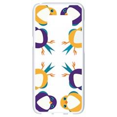 Pattern Circular Birds Samsung Galaxy S8 White Seamless Case by BangZart