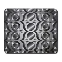 Metal Circle Background Ring Large Mousepads by BangZart