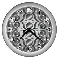 Metal Circle Background Ring Wall Clocks (silver)  by BangZart