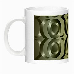 Metal Circle Background Ring Night Luminous Mugs