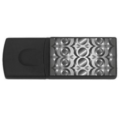 Metal Circle Background Ring Usb Flash Drive Rectangular (4 Gb)