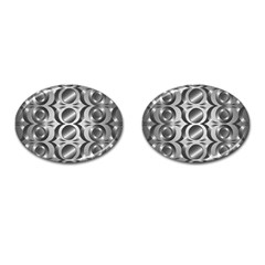 Metal Circle Background Ring Cufflinks (oval)