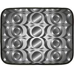 Metal Circle Background Ring Fleece Blanket (mini)