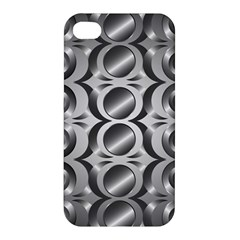 Metal Circle Background Ring Apple Iphone 4/4s Premium Hardshell Case by BangZart