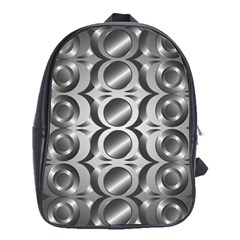 Metal Circle Background Ring School Bags (xl)  by BangZart