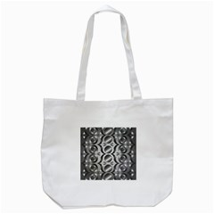 Metal Circle Background Ring Tote Bag (white) by BangZart