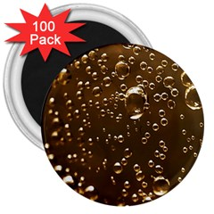 Festive Bubbles Sparkling Wine Champagne Golden Water Drops 3  Magnets (100 Pack) by yoursparklingshop