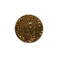 Festive Bubbles Sparkling Wine Champagne Golden Water Drops Golf Ball Marker by yoursparklingshop