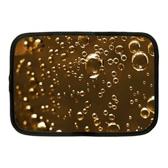 Festive Bubbles Sparkling Wine Champagne Golden Water Drops Netbook Case (medium)  by yoursparklingshop