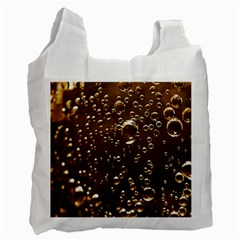 Festive Bubbles Sparkling Wine Champagne Golden Water Drops Recycle Bag (two Side)  by yoursparklingshop