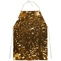 Festive Bubbles Sparkling Wine Champagne Golden Water Drops Full Print Aprons by yoursparklingshop