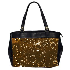 Festive Bubbles Sparkling Wine Champagne Golden Water Drops Office Handbags (2 Sides)  by yoursparklingshop