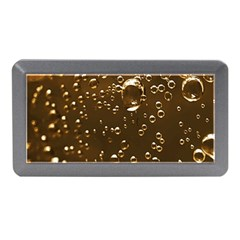 Festive Bubbles Sparkling Wine Champagne Golden Water Drops Memory Card Reader (mini) by yoursparklingshop