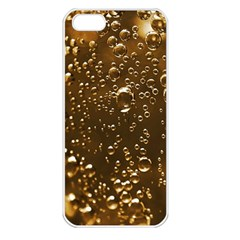 Festive Bubbles Sparkling Wine Champagne Golden Water Drops Apple Iphone 5 Seamless Case (white) by yoursparklingshop