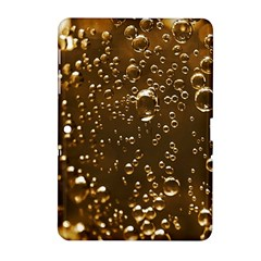 Festive Bubbles Sparkling Wine Champagne Golden Water Drops Samsung Galaxy Tab 2 (10 1 ) P5100 Hardshell Case  by yoursparklingshop