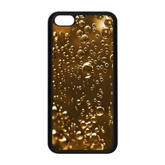Festive Bubbles Sparkling Wine Champagne Golden Water Drops Apple Iphone 5c Seamless Case (black) by yoursparklingshop