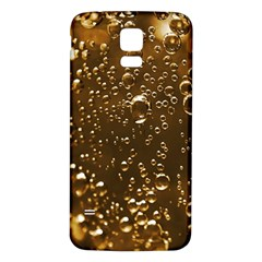 Festive Bubbles Sparkling Wine Champagne Golden Water Drops Samsung Galaxy S5 Back Case (white) by yoursparklingshop