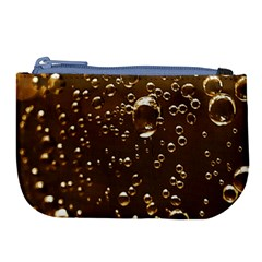 Festive Bubbles Sparkling Wine Champagne Golden Water Drops Large Coin Purse by yoursparklingshop