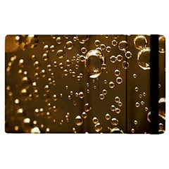 Festive Bubbles Sparkling Wine Champagne Golden Water Drops Apple Ipad Pro 12 9   Flip Case by yoursparklingshop
