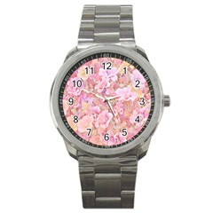 Lovely Floral 36a Sport Metal Watch by MoreColorsinLife