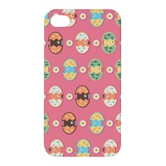 Cute Eggs Pattern Apple Iphone 4/4s Premium Hardshell Case by linceazul
