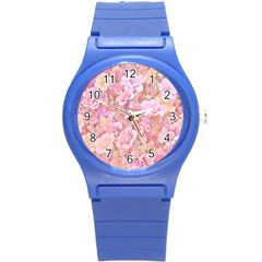Lovely Floral 36a Round Plastic Sport Watch (s) by MoreColorsinLife