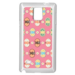 Cute Eggs Pattern Samsung Galaxy Note 4 Case (white) by linceazul