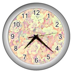 Lovely Floral 36b Wall Clocks (silver)  by MoreColorsinLife