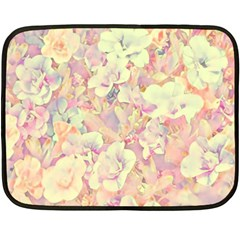 Lovely Floral 36b Double Sided Fleece Blanket (mini)  by MoreColorsinLife