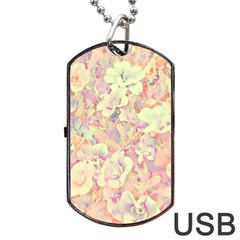 Lovely Floral 36b Dog Tag Usb Flash (two Sides) by MoreColorsinLife