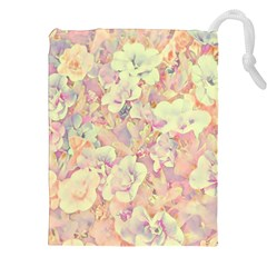 Lovely Floral 36b Drawstring Pouches (xxl) by MoreColorsinLife