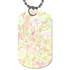 Lovely Floral 36c Dog Tag (two Sides) by MoreColorsinLife