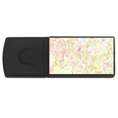 Lovely Floral 36c Usb Flash Drive Rectangular (4 Gb) by MoreColorsinLife