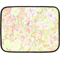 Lovely Floral 36c Double Sided Fleece Blanket (mini)  by MoreColorsinLife