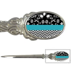 Flowers Turquoise Pattern Floral Letter Openers