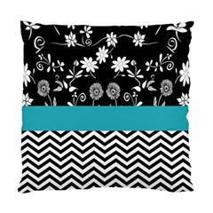 Flowers Turquoise Pattern Floral Standard Cushion Case (two Sides) by BangZart
