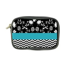 Flowers Turquoise Pattern Floral Coin Purse