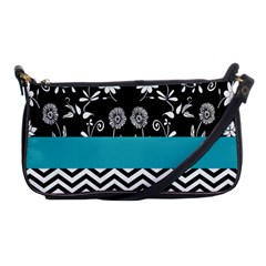 Flowers Turquoise Pattern Floral Shoulder Clutch Bags by BangZart
