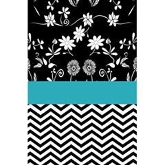 Flowers Turquoise Pattern Floral 5 5  X 8 5  Notebooks by BangZart