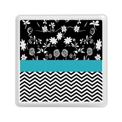 Flowers Turquoise Pattern Floral Memory Card Reader (square)  by BangZart