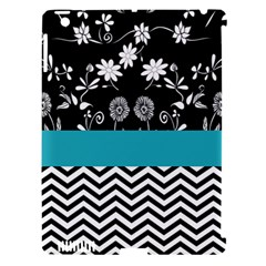 Flowers Turquoise Pattern Floral Apple Ipad 3/4 Hardshell Case (compatible With Smart Cover)