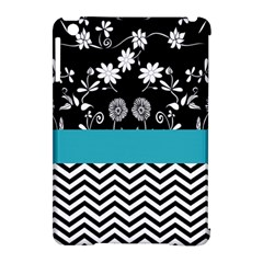 Flowers Turquoise Pattern Floral Apple Ipad Mini Hardshell Case (compatible With Smart Cover) by BangZart