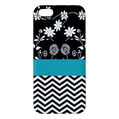 Flowers Turquoise Pattern Floral Iphone 5s/ Se Premium Hardshell Case