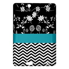 Flowers Turquoise Pattern Floral Amazon Kindle Fire Hd (2013) Hardshell Case by BangZart