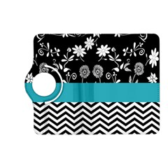 Flowers Turquoise Pattern Floral Kindle Fire Hd (2013) Flip 360 Case by BangZart